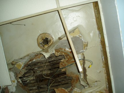 Bathroom Mess Ceiling